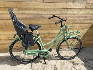 Fiets + fietsstoeltje achter   17,50 per dag
